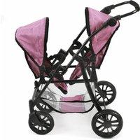 Bayer-Chic Tandem-Buggy Twinny - Pink