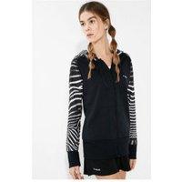Desigual Sweatshirt Zip Hoddie Wild black/white