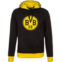 Puma BVB Pullover Badge Hoodie black/cyber yellow
