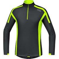Gore Air Zip Shirt long black/neon yellow (SLZAIR)