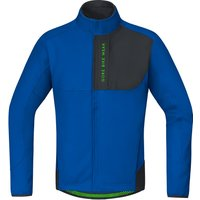Gore Power Trail Windstopper Soft Shell Thermo Jacket brilliant blue/black