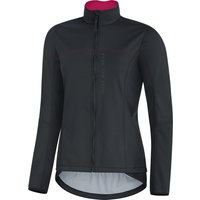 Gore Power Lady Windstopper (Softshell) Jacket black/jazzy pink