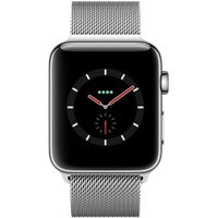 Apple Watch Series 3 GPS + Cellular Stainless Steel 42mm Silver Milanese Loop