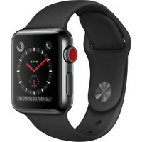 Apple Watch Series 3 GPS + Cellular Space Black Stainless Steel 38mm Black Sport Band