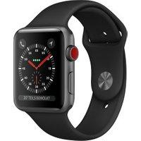 Apple Watch Series 3 GPS + Cellular Space Grey Aluminium 38mm Black Sport Band