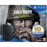 Sony PlayStation 4 (PS4) Slim 500GB + Call of Duty: WWII