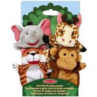 Melissa & Doug Zoo Friends Hand Puppets - Set of 4