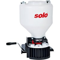 Solo 421 9 kg Capacity Manual Spreader with Adjustable Strap and Manual Crank - Red