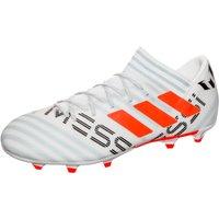 adidas Mens Nemeziz Messi 73 Fg Footbal Shoes, Multicolor FTWR WhiteSolar OrangeClear Grey, 7 UK