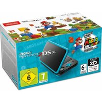 Nintendo New 2DS XL black turquoise + Super Mario 3D Land