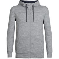 Icebreaker Men's Shifter LS Zip Hood metro heather/fathom heather