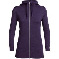 Icebreaker Women's Dia LS Zip Hood burgundy heather