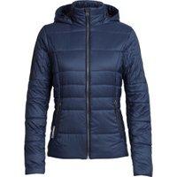 Icebreaker Women's Stratus X Hooded Jacket midnight navy/jet heather