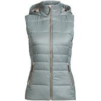 Icebreaker Women's Stratus X Hooded Vest drift/fawn heather