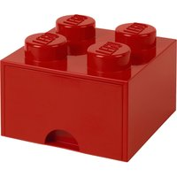 LEGO Storage Brick Drawer 4 Studs - Red