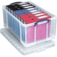 Really Useful Products Plastic Storage Box 64 L Transparent (64CCB)
