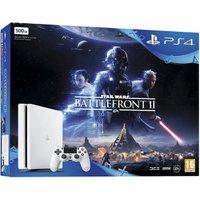 Sony PlayStation 4 (PS4) Slim 500GB glacier white + Star Wars: Battlefront 2