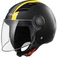 LS2 Airflow L Metropolis Black Matt/Yellow