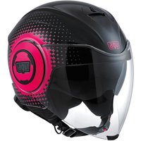 AGV Fluid Pix Black/Pink