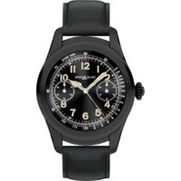 Montblanc Summit Stainless Steel black with Black Leather Strap