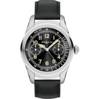 Montblanc Summit Stainless Steel with Black Leather Strap