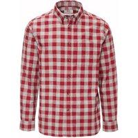 Fjällräven Övik Check Shirt LS red oak