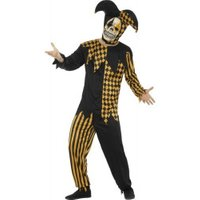 Smiffy's Creepy Jockey Jester Men Costume black-gold L