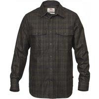 Fjällräven Övik Re-Wool LS Shirt Men dark grey olive