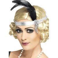 Smiffy's Silver Satin Charleston Headband (31716)