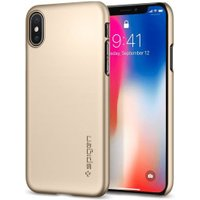 Spigen Case Thin Fit (iPhone X) Champagne Gold