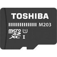 Toshiba 64GB M203 MicroSD Class 10 U1 100MBs with Adapter, Black
