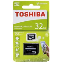 Toshiba 32GB M203 MicroSD Class 10 U1 100MBs with Adapter