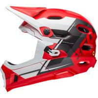 Bell Super DH Mips red-white