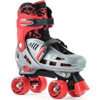 SFR Hurricane Ajustable Quad Skate grey/red