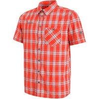 Mammut Belluno Shortsleeve Shirt Men dark orange/cloud