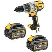 DeWalt 18V Brushless Combi Hammer + 2 x 6.0Ah Batteries Charger & TSTAK