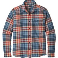 Patagonia Men's LS Lightweight Fjord Flannel Shirt rootsy: railroad blue
