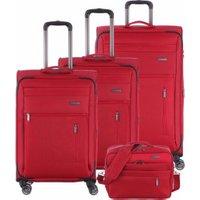 Travelite Capri Spinner-Set 55/66/76 cm & Boardcase red