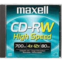 Maxell CD-RW 700MB 80min 12x 1pk Jewel Case