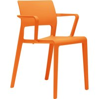Arper Juno Chair with Armrests orange
