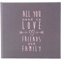 Goldbuch Guestbook All you need 25x23,5/176 grey