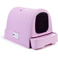 Curver Rattan Cat Litter Box pink