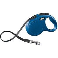 Flexi New Classic Strap Leash L 8 m blue