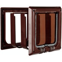 Trixie 4-Way Cat Flap with tunnel (brown)