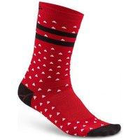 Craft Pattern Socks bright red/black