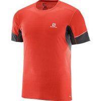 Salomon Agile Running Shirt short sleeve Men fiery red