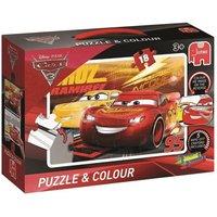 Jumbo Puzzle & Colour Cars 3 (19616)