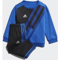 Adidas Mini Me X Crew Set blue / black / collegiate royal / silver met.