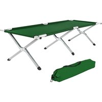 TecTake 2 Camp Beds XL (green)