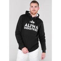 Alpha Industries Foam Print Hoody black/white (143302-95)